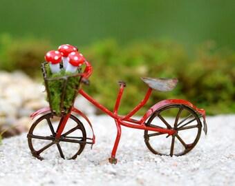 Fairy Garden accessories  red bike bicycle for terrarium or miniature garden