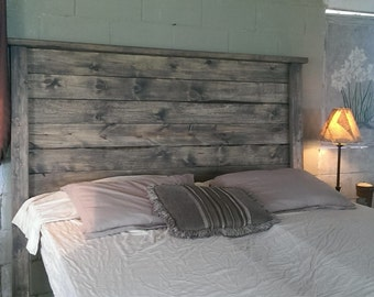 Rustic Headboards weathered gray rustic wood headboard weathered
