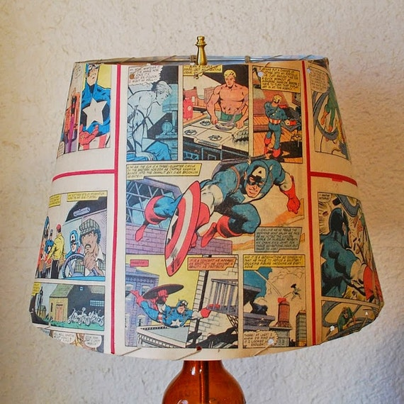 Free Comic Book Day Banner: Items Similar To Vintage Captain America Comic Book Lamp