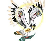 """Osprey with Salmon Art Print 11 x 14"""""""