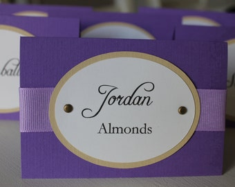 Purple Custom Candy Tags