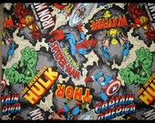 Pillow Bed with Marvel Super Heroes fabric, Boy Pillow Bed, Pillow bed, Children's Pillow Bed, Pillow Mattress, Sleepover Bed