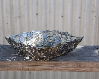 Square Key bowl, 34 cm, Key bowl, Metal bowl, Metal sculpture ornament, Made to order