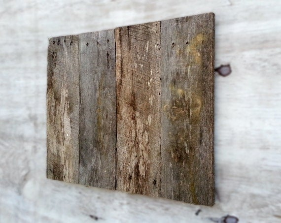 Blank distressed pallet wood sign panel plaque grey patina