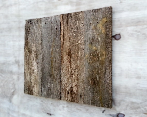 Wood Panel Sign ~ Blank distressed pallet wood sign panel plaque grey patina
