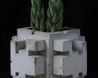 Cement Planter, Ancient Ruin, #2