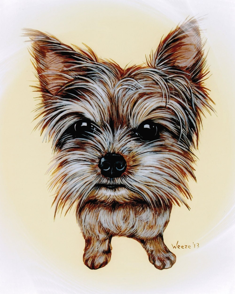 Yorkie Yorkshire Terrier Yorkshire Terrier Art By Artbyweeze