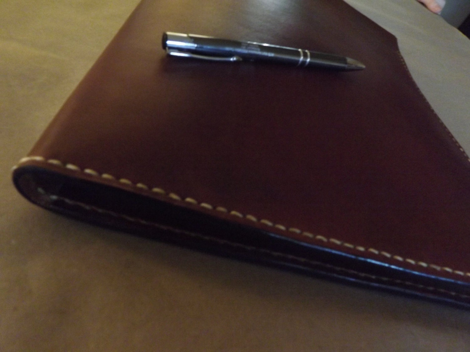 Large Leather Portfolio Notebook Holder Antiqued Handmade