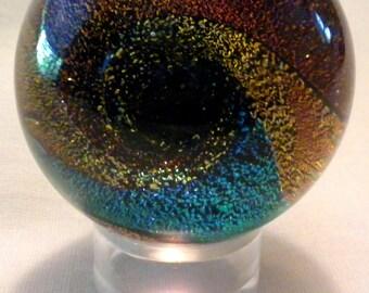 Dichroic Vortex Glass Marble