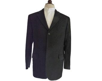 Cashmere jacket blazer black Barneys NY 42 R Three 3 button Jacket