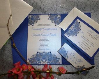 "Royal Blue  Wedding Invitation (sample) -""  Blue Night """