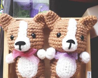 Corgi v.1 crochet amigurumi, plushie, mochillery handmade