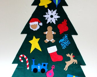 Large Children's Felt Christmas Tree with Storage Bag