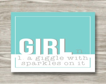 Girl- A Giggle with Sparkles- DIGITAL FILE