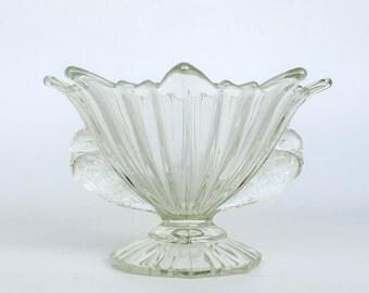 Antique Italian Glass Bowl / Birds