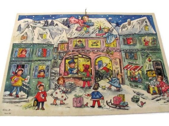 Advent Calendar Vintage : Vintage advent calendar s haco calender