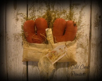 Primitive Valentine Envelope with Hearts & Love Letter