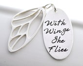 Hand Stamped Butterfly Wing Necklace | With Wings She Flies