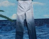 Ombré dip dye high waist vintage Versace jeans pants blue white