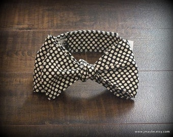 Retro Black & White Polka Dot Bow Tie by Steady As She Goes Easter holiday party ring bearer wedding boys costume 3 6 12 mo 2T 3T 4 5 7 8 10