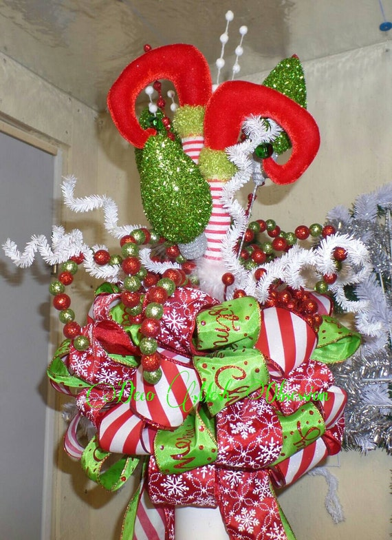 Elf Legs Christmas Tree Topper READY TO SHIP