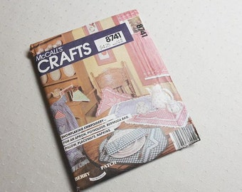 Vintage Mccalls Crafts 8741 Chicken Scratch Embroidery