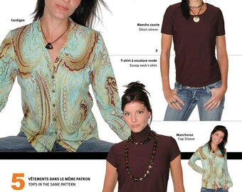 Jalie Cardigan and T-Shirts Twinset Sewing Pattern # 2566 in 27 Sizes for Women & Girls