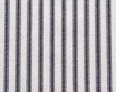 Berlin Black cotton fabric by the yard stripe Magnolia Home Fashions