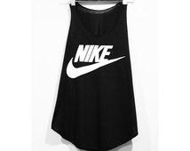 Nike Tank Top Minimal Fitness Sport Clothing Black Workout Shirt Beach Summer T-Shirt Woman BUY 2 GET 1 FREE