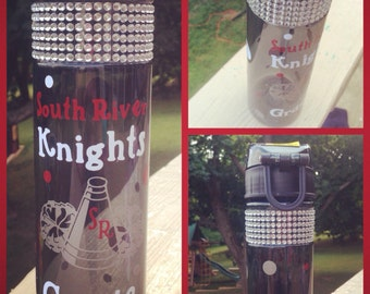 Personalized bling cheer water bottle