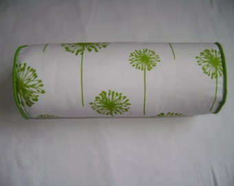 Dandelion Bolster Pillow Cover,  Chartreuse Dandelion Bolster Pillow Cover, Decorative Bolster Pillow Cover, 6''x16''