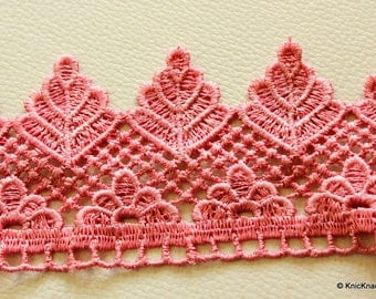 Pink Embroidery Crochet Lace Trim Ribbon 58 mm wide - 041203L93