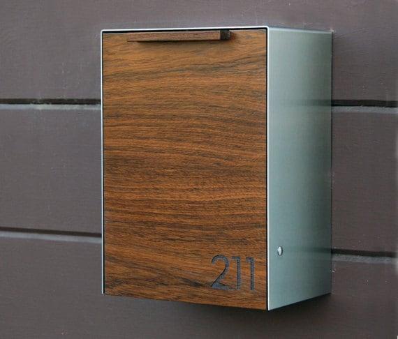 Modern Wall Mailbox Modern Mailbox Narrow Teak