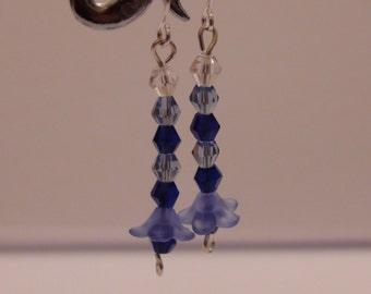 Handmade girls earrings. 4,5 cm or 1,8 inches in long.