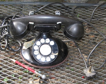 Bell Electric 1930's Black Rotary Telephone