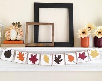 Craquez pour Decor, Decor de Thanksgiving, automne Bunting, décoration de Thanksgiving, bannière d'automne, automne signe