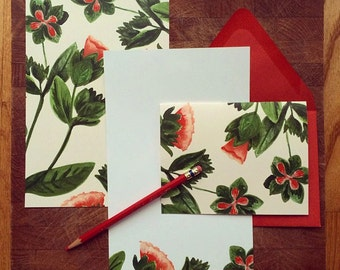 Letter Writing Paper / Social Stationery / Gift Set / Set of 10 Cards and Envelopes