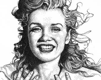 Marilyn Monroe Drawing Normajean Norma Jean Drawing Illustration Pin Up Vintage