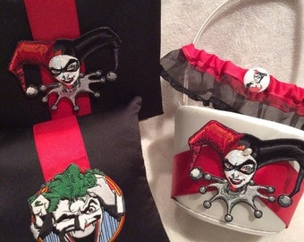 Stunning wedding rings Joker harley quinn wedding rings
