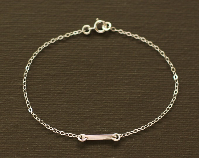 Silver Bar Bracelet - Sterling Silver Bar Bracelet