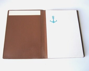 Notebook, Vintage Letter Writing Paper, Aged Blank Vinyl Diary, Sketch Book, Copybook, Memo Book from Soviet Union USSR Estonia