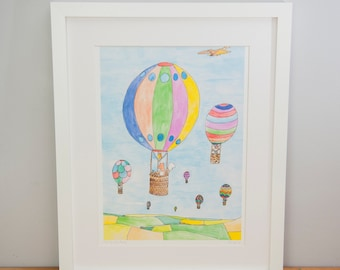 Up Up and Away A3 Print