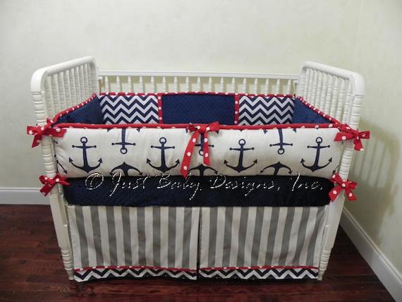 Nautical Baby Bedding Set Sebastian - Boy Baby Bedding, Anchor Crib ...