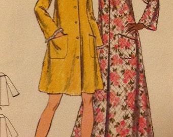 Butterick 5743 - Misses ROBE, Housecoat, Size14 - Vintage Pattern UnCut