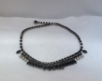 Black and Clear Vintage Necklace