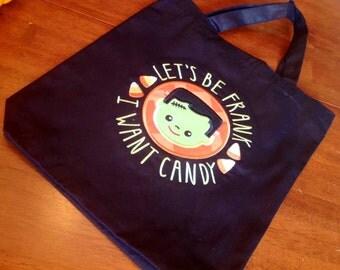 Frankenstein Halloween bag, appliqués and personalized