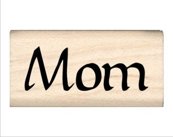 Mom - Name Rubber Stamp for Kids