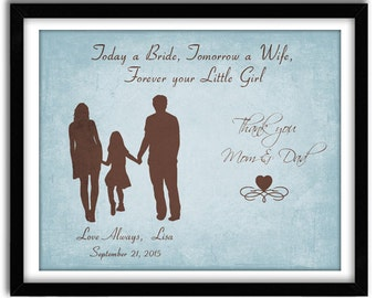 Wedding Gift for Parents from Bride, Thank You Gift for Parents, Father and Mother of Bride gift, Rehearsal Dinner Gift, 8x10 Print