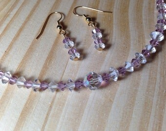 Lavandula Full of Grace, Vintage crystals with Lavender colored crystals