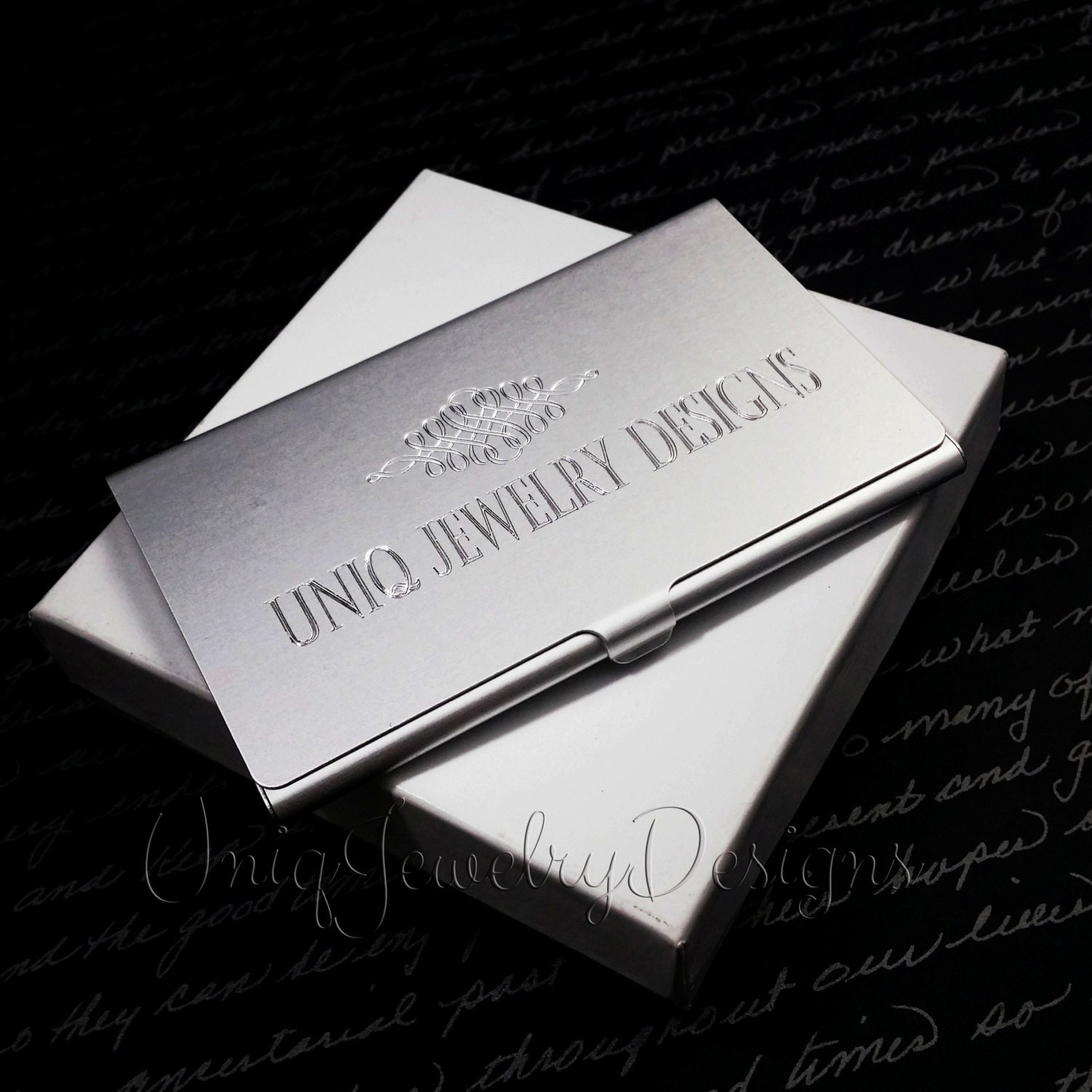 Personalized Business Card Holder For Men by